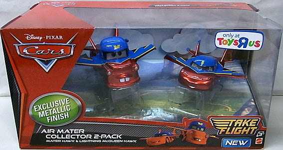 MATTEL CARS TAKE FLIGHT USA TOYSRUS限定 AIR MATER COLLECTOR 2PACK [METALLIC FINISH]