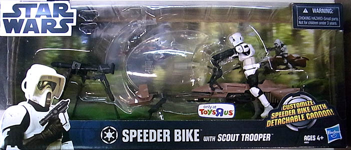 HASBRO STAR WARS USA TOYSRUS限定 SPEEDER BIKE WITH SCOUT TROOPER