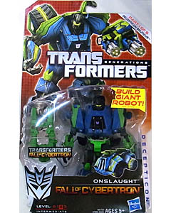 HASBRO TRANSFORMERS GENERATIONS FALL OF CYBERTRON DELUXE CLASS ONSLAUGHT [DECEPTICON BRUTICUS]