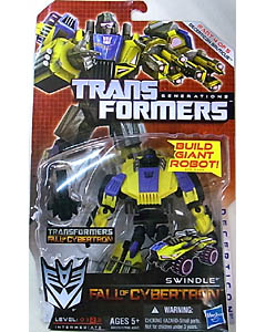 HASBRO TRANSFORMERS GENERATIONS FALL OF CYBERTRON DELUXE CLASS SWINDLE [DECEPTICON BRUTICUS]