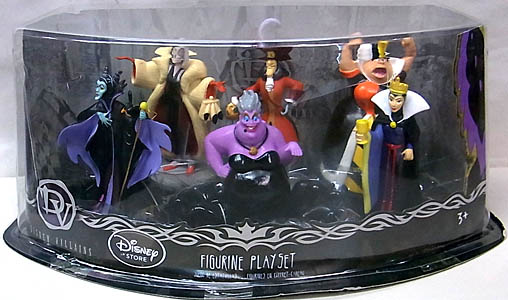 USA DISNEY STORE 限定 FIGURE SET DISNEY VILLAINS パッケージ傷み特価