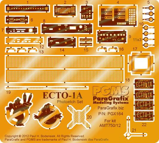 PARAGRAFIX ポーラライツ / AMT 1/25スケール ゴーストバスターズ ECTO-1A用エッチングパーツ&デカールセット / PGX164