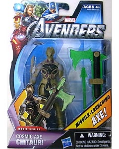 HASBRO 映画版 THE AVENGERS 3.75インチ MOVIE SERIES COSMIC AXE CHITAURI