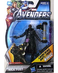 HASBRO 映画版 THE AVENGERS 3.75インチ MOVIE SERIES ASSAULT SQUAD NICK FURY 台紙傷み特価