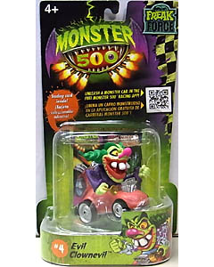 その他・海外メーカー MONSTER 500 SMALL CAR & TRADING CARD EVIL CLOWNEVIL