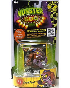 その他・海外メーカー MONSTER 500 SMALL CAR & TRADING CARD LEAD FOOT