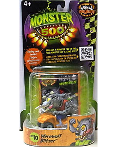 その他・海外メーカー MONSTER 500 SMALL CAR & TRADING CARD WEREWOLF BLITZER