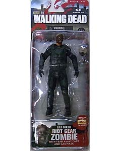 McFARLANE TOYS THE WALKING DEAD TV 5インチアクションフィギュア SERIES 4 RIOT GEAR GAS MASK ZOMBIE