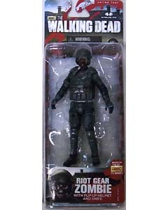 McFARLANE TOYS THE WALKING DEAD TV 5インチアクションフィギュア SERIES 4 RIOT GEAR ZOMBIE 在庫処分特価