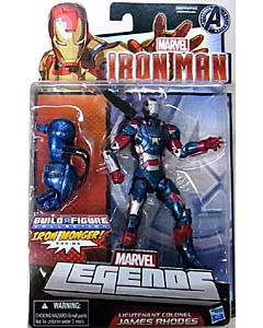 HASBRO MARVEL LEGENDS 2013 IRON MAN IRON MONGER SERIES LIEUTENANT COLONEL JAMES RHODES ブリスターハガレ&台紙傷み特価