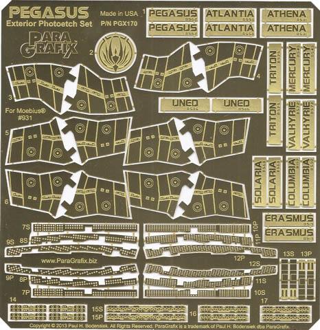 PARAGRAFIX メビウスモデル 1/4105スケール バトルスターギャラクティカ ペガサス用 エッチングパーツ / PGX170