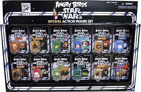 2013年 サンディエゴ・コミコン限定 HASBRO ANGRY BIRDS X STAR WARS SPECIAL ACTION FIGURE SET