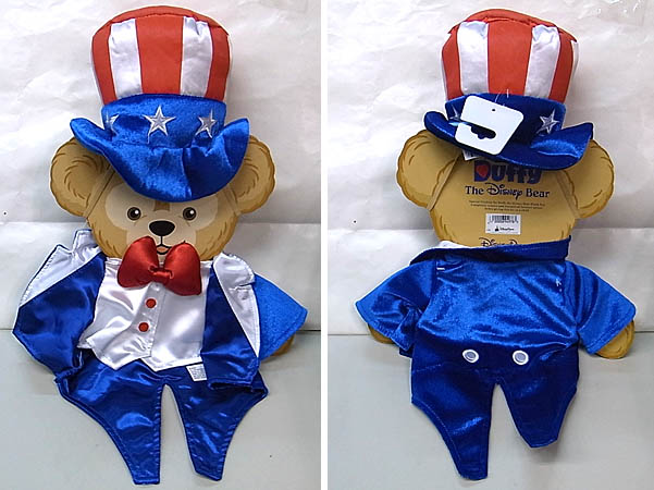 DISNEY USAディズニーテーマパーク限定 DUFFY THE DISNEY BEAR COSTUME [4TH OF JULY DUFFY THE DISNEY BEAR]