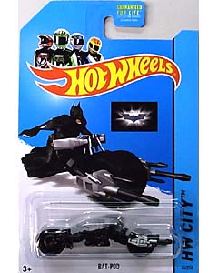 MATTEL HOT WHEELS 1/64スケール 2014 HW CITY THE DARK KNIGHT TRILOGY BAT-POD #064