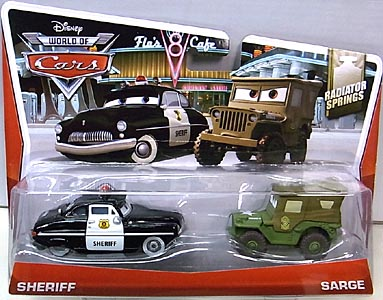 MATTEL CARS 2014 2PACK SHERIFF & SARGE