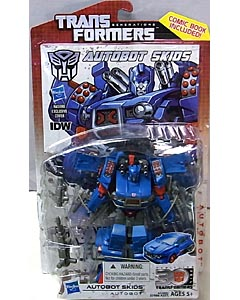 HASBRO TRANSFORMERS GENERATIONS DELUXE CLASS AUTOBOT SKIDS [COMIC BOOK INCLUDED]