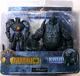 NECA PACIFIC RIM DX 7インチアクションフィギュア 2PACK GIPSY DANGER BATTLE DAMAGE VS LEATHERBACK