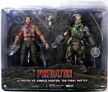 NECA PREDATORS USA TOYSRUS限定 2PACK PREDATOR DUTCH VS JUNGLE HUNTER: THE FINAL BATTLE ブリスター傷み特価