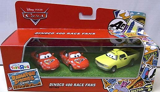 MATTEL CARS USA TOYSRUS限定 RADIATOR SPRINGS CLASSIC 3PACK DINOCO 400 RACE FANS