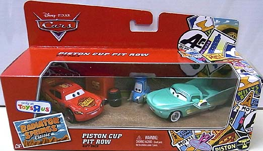 MATTEL CARS USA TOYSRUS限定 RADIATOR SPRINGS CLASSIC 3PACK PISTON CUP PIT ROW