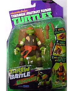 PLAYMATES NICKELODEON TEENAGE MUTANT NINJA TURTLES THROW AND BATTLE MICHELANGELO