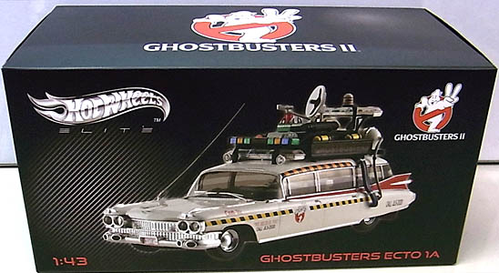 MATTEL HOT WHEELS 1/43スケール GHOSTBUSTERS II ECTO 1A [ELITE] 箱傷み特価