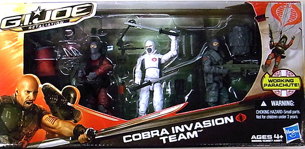 HASBRO 映画版 G.I. JOE: RETALIATION 3PACK COBRA INVASION TEAM パッケージ破れ特価