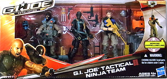 HASBRO 映画版 G.I. JOE: RETALIATION 3PACK G.I.JOE TACTICAL NINJA TEAM パッケージ傷み特価