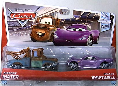 MATTEL CARS 2013 2PACK AIRPORT MATER & HOLLEY SHIFTWELL