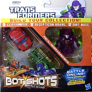 HASBRO TRANSFORMERS BOT SHOTS 3PACK CLIFFJUMPER & DECEPTICON BRAWL & DIRT BOSS [SUPER BOT]