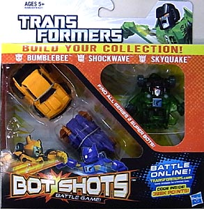 HASBRO TRANSFORMERS BOT SHOTS 3PACK BUMBLEBEE & SHOCKWAVE & SKYQUAKE [SUPER BOT]