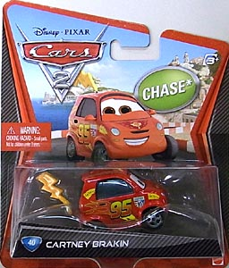 MATTEL CARS2 シングル CHASE CARTNEY BRAKIN