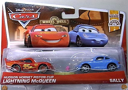 MATTEL CARS 2013 2PACK HUDSON HORNET PISTON CUP LIGHTNING McQUEEN & SALLY 台紙傷み特価
