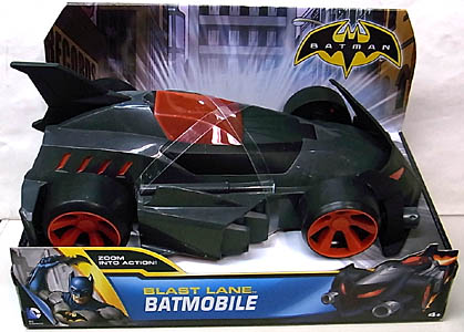 MATTEL BATMAN 2013 VEHICLE BLAST LANE BATMOBILE