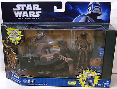 HASBRO STAR WARS THE CLONE WARS AT-RT WITH ARF TROOPER BOIL