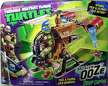 PLAYMATES NICKELODEON TEENAGE MUTANT NINJA TURTLES VEHICLE MUTAGEN OOZE DROP COPTER