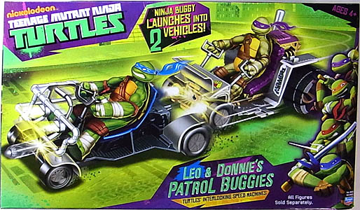 PLAYMATES NICKELODEON TEENAGE MUTANT NINJA TURTLES VEHICLE LEO & DONNIE'S PATROL BUGGIES