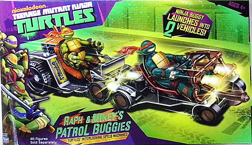 PLAYMATES NICKELODEON TEENAGE MUTANT NINJA TURTLES VEHICLE RAPH & MIKEY'S PATROL BUGGIES