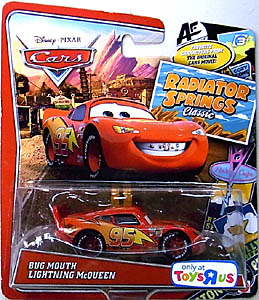 MATTEL CARS USA TOYSRUS限定 RADIATOR SPRINGS CLASSIC シングル BUG MOUTH LIGHTNING McQUEEN