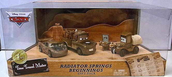 MATTEL CARS 2013 USAディズニーテーマパーク限定 TIME TRAVEL MATER RADIATOR SPRINGS BEGINNINGS GIFT PACK
