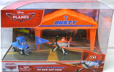 MATTEL PLANES PIT ROW GIFT PACK DUSTY CROPHOPPER