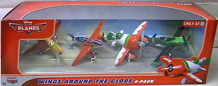 MATTEL PLANES WINGS AROUND THE GLOBE 4-PACK