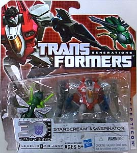 HASBRO TRANSFORMERS GENERATIONS LEGENDS CLASS STARSCREAM & WASPINATOR