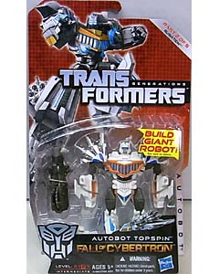 HASBRO TRANSFORMERS GENERATIONS FALL OF CYBERTRON DELUXE CLASS AUTOBOT TOPSPIN [RUINATION]