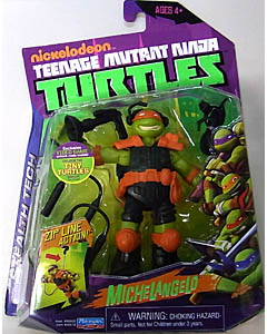 PLAYMATES NICKELODEON TEENAGE MUTANT NINJA TURTLES ベーシックフィギュア STEALTH TECH MICHELANGELO