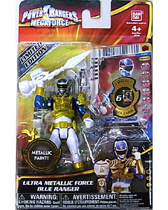 USA BANDAI POWER RANGERS MEGAFORCE 4インチアクションフィギュア ULTRA METALLIC FORCE BLUE RANGER