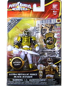 USA BANDAI POWER RANGERS MEGAFORCE 4インチアクションフィギュア ULTRA METALLIC FORCE BLACK RANGER