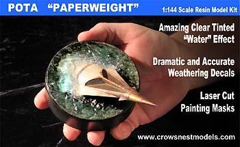 CROWS NEST MODELS 猿の惑星 イカルス号 ペーパーウェイト 1/144スケール レジンキャストキット