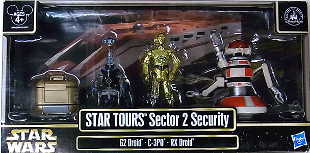 STAR WARS USAディズニーテーマパーク限定 STAR TOURS SECTOR 2 SECURITY 3PACK