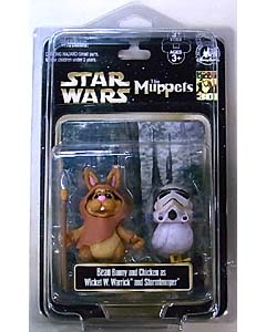 STAR WARS USA ディズニーテーマパーク限定 フィギュア THE MUPPETS 2PACK BEAN BUNNY AND CHICKEN AS WICKET W. WARRICK AND STROMTROOPER
